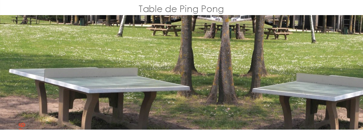 Table de pique nique b ton table de ping pong b ton - Table de ping pong exterieur en beton ...